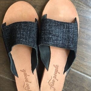 Free People Daybird Mini Wedge Slides Sandals